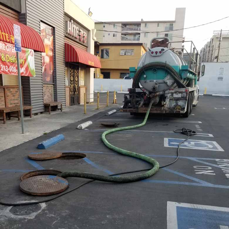 Grease Trap Cleaning in Los Angeles and Orange County. We Offer Complete Solution To Your Needs.  Grease Traps Can Overflow Without Proper Preventative Maintenance Pumping Service. Cleaning a Grease Trap Will Include Removal of Grease and Waste Water to prevent it from going into the sanition sewer system.